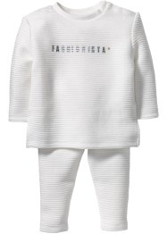 Sweatshirt+sweatbroek (2-dlg. set), bpc bonprix collection, wolwit