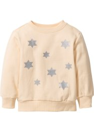 Sweatshirt, bpc bonprix collection, lichtapricot/zilverkleur