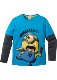 Layershirt «MINIONS», Despicable Me 2, middenturkoois/antraciet gemêleerd