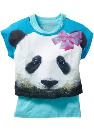 Shirt+tanktop (2-dlg.), bpc bonprix collection, middenturkoois/aqua Panda