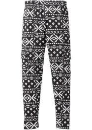 Legging, bpc bonprix collection, zwart/wit etnoprint