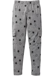 Legging, bpc bonprix collection, grijs gemêleerd gedessineerd
