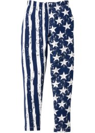 Legging, bpc bonprix collection, donkerblauw/wit gedessineerd