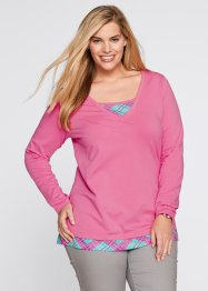 2in1-shirt, bpc bonprix collection, mat pink