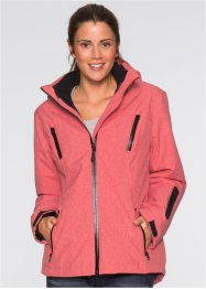 3in1-outdoorjack, bpc bonprix collection, rood gemêleerd