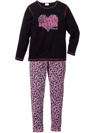 Pyjama (2-dlg.), bpc bonprix collection, zwart/roze