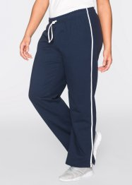 Joggingbroek (set van 2), bpc bonprix collection, donkerblauw/lichtgrijs gemêleerd