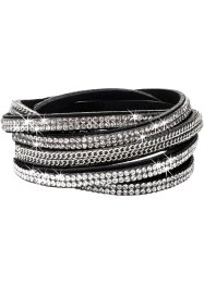Wikkelarmband, bpc bonprix collection, zwart