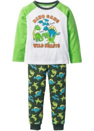 Pyjama (2-dlg. set), bpc bonprix collection, wolwit/knalgroen