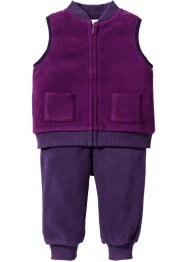 Bodywarmer+broek (2-dlg. set), bpc bonprix collection, viooltjespaars/donkerlila
