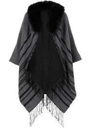 Poncho, bpc bonprix collection, grijs/zwart
