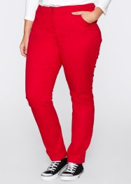 Stretchbroek straight, bpc bonprix collection, rood