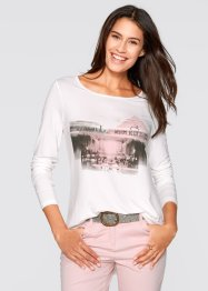 Longsleeve, bpc bonprix collection, wolwit met print