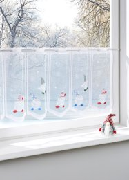 Glasgordijn «Kerstman», bpc living, multicolor