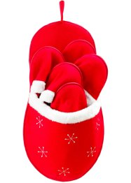 Pantoffels «Santa's Shoes» (9-dlg. set), bpc living, rood/wit