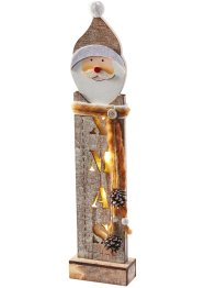 Led-decoratie «Santa», bpc living, grijs