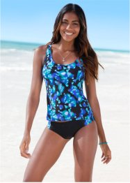 Tankini (2-dlg. set), bpc bonprix collection, blauw/zwart