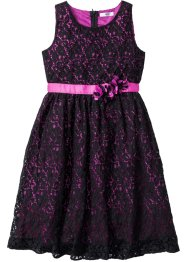 Jurk, bpc bonprix collection, zwart/middenfuchsia