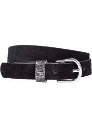 Leren riem, bpc bonprix collection, zilverkleur