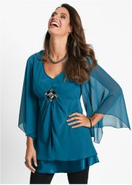 Tuniekblouse, bpc selection, blauwpetrol
