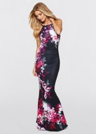 Maxi-jurk, BODYFLIRT boutique, zwart gedessineerd