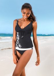 Tankini (2-dlg. set), bpc bonprix collection, zwart/wit