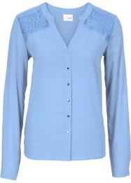 Blouse, BODYFLIRT, parelblauw
