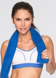 Sportbeha level 2, bpc bonprix collection, wit/blauw