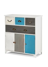 Commode «Dennis», bpc living, blauw/wit