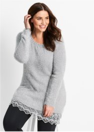 Longpullover, bpc bonprix collection, mat zilverkleur