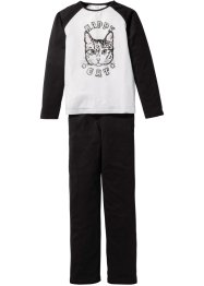 Pyjama (2-dlg. set), bpc bonprix collection, zwart/wit