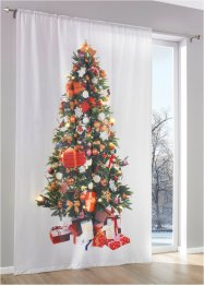 Overgordijn «Led-kerstboom» (1 stuk), bpc living, wit/multicolor