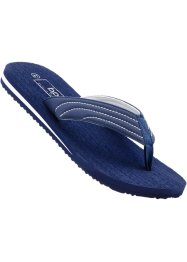 Teenslippers, bpc bonprix collection, donkerblauw/wit