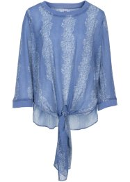 Blouse, BODYFLIRT, indigo gedessineerd