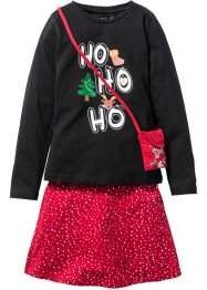 Kerstoutfit (3-dlg. set), bpc bonprix collection, zwart/donkerrood