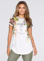 Shirt, BODYFLIRT, wolwit/multicolor gedessineerd