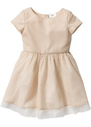 Glitterjurk, bpc bonprix collection, sandbeige/goudkleur