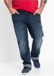 Stretchjeans classic fit straight, John Baner JEANSWEAR, donkerblauw