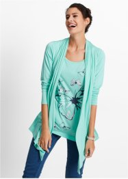 2in1-shirt, bpc bonprix collection, mentholblauw met print