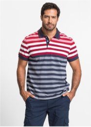 Poloshirt, bpc selection, rood/wit/donkerblauw gestreept