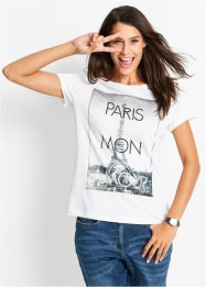 Shirt, bpc bonprix collection, wit met print Paris