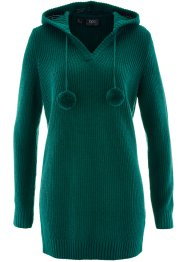 Longpullover, bpc bonprix collection, petrolgroen