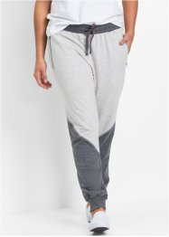 Joggingbroek, bpc bonprix collection, wolwit/grijs gemêleerd