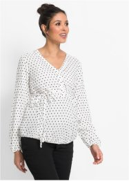 Zwangerschapsblouse, bpc bonprix collection, wit/zwart gestippeld