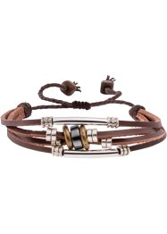 Armband, bpc bonprix collection, rood/cognac/wit