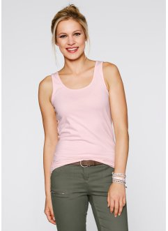 Tanktop (set van 2), bpc bonprix collection, zacht roze+wit