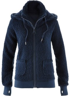 Fleecejack, bpc bonprix collection, donkerblauw
