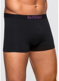 Boxershort (set van 7), bpc bonprix collection, zwart