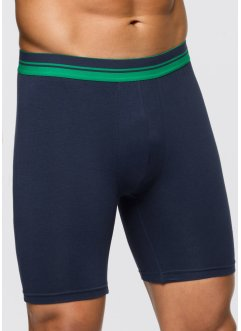 Lange boxershort (set van 2), bpc bonprix collection, donkerblauw/groen