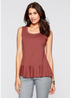 Top, bpc bonprix collection, marsala